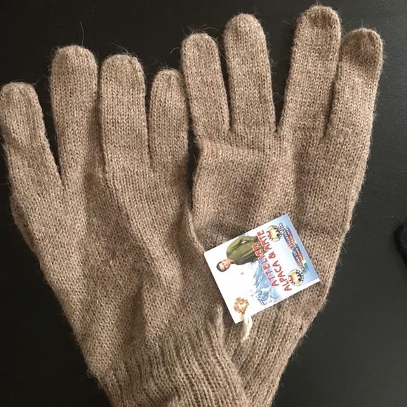 100/% Alpaca Woolen Reversible Gloves Size XS